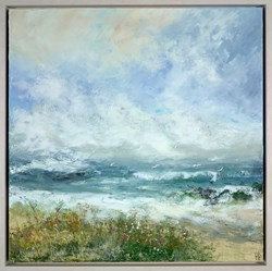 Wind In The Dunes by Hudson Parkin - Original Painting on Box Canvas sized 39x39 inches. Available from Whitewall Galleries